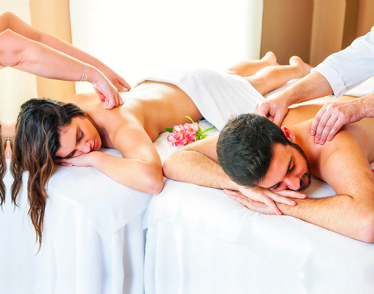 couple having a massage together